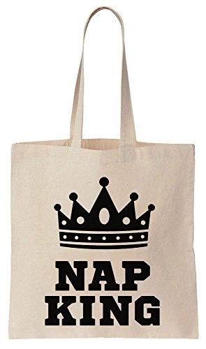 Nap King With Crown Sacchetto di cotone tela di canapa