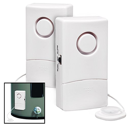 2 Water Alarms With Sensors For Floods Leaks Basement Det...