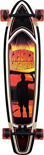 Layback Longboards Sunset Kicktail Complete Skateboard - 9.5