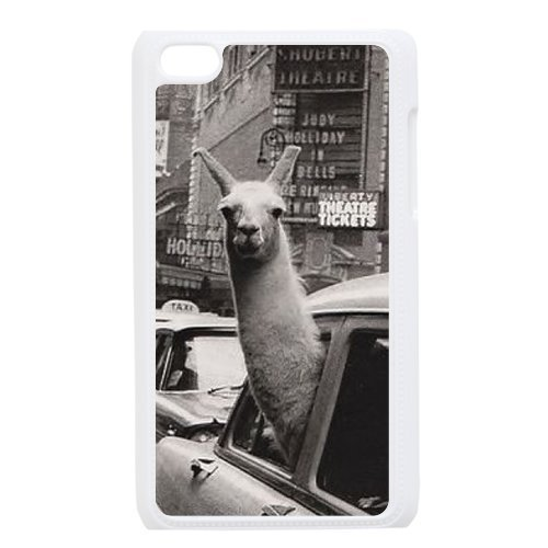 Fashion Series Cute funny the alpaca llama in the taxi Hipster iPod Touch 6th Best PVC Case Including Dust Plug