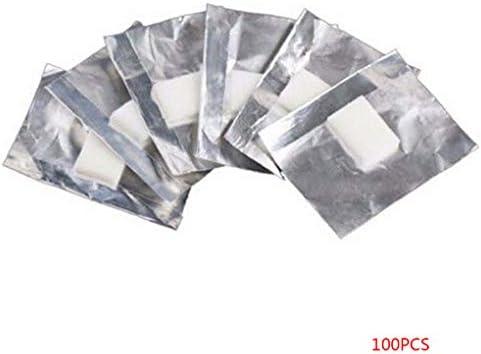 Babysbreath17 100pcs Papel de Aluminio Envolturas de uñas de Arte del cojín de algodón empapa del removedor de Esmalte en Gel acrílico Herramientas de eliminación: Amazon.es: Hogar