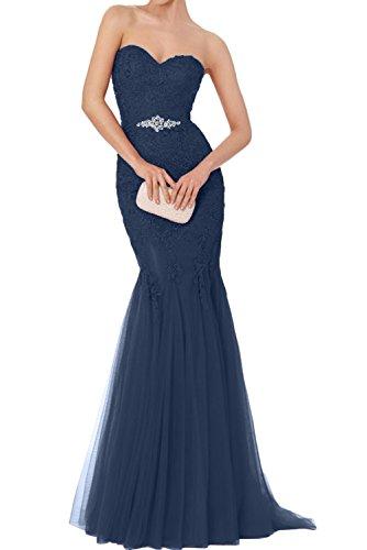 Ivydressing Brautmutterkleider Navy Tuell Promkleider Neu Abendkleider Herzform Meerjungfrau Schwarz Damen Lang 2017 OfrZOvn