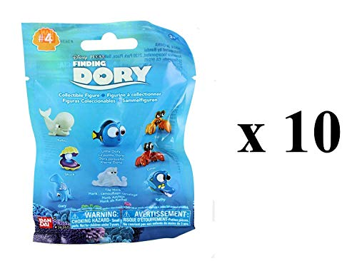 Disney Pixar Finding Dory - Series 4 - Collectible Figures Mystery Blind Party Bags Pack of 10