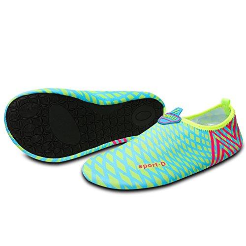 Chaussures Plage Chaussons Saguaro ® Pour Bleu Homme Enfant Aqua Schwimmschuhe 2 Surf De D'eau Femme Blau I44a5qw