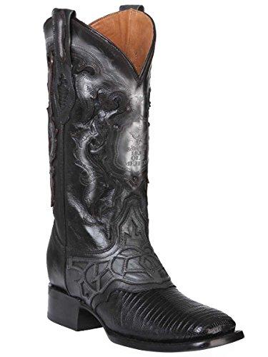 Old Mejico Western Boot Exotic Lizard Teju ID 301075 CS5N Black (10)