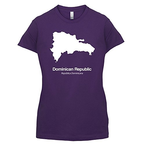 Dominican Republic / Dominikanischen Republik Silhouette - Damen T-Shirt - Lila - M