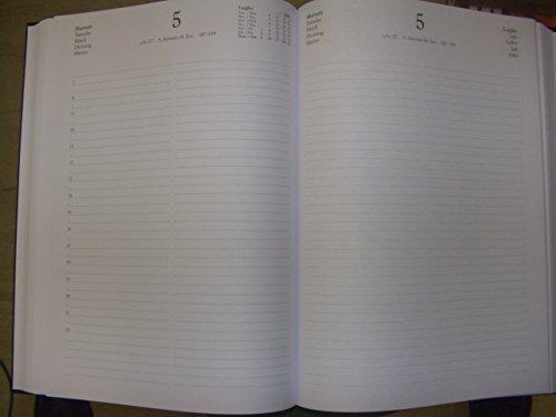 Agenda mega diaria de 2018 para restaurantes con dos páginas ...