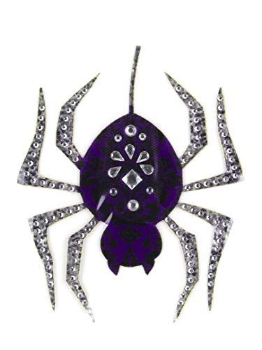 Cousin DIY 39999212 Sparkle Spider Applique Iron-On Patch, Purple