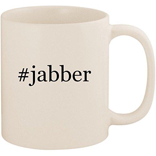 #jabber - 11oz Ceramic Coffee Mug Cup, White -