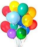 COOFIT Latex Balloons, 100 Piece 12 Inches Party Balloons Assorted Colour Balloon Decoration for...