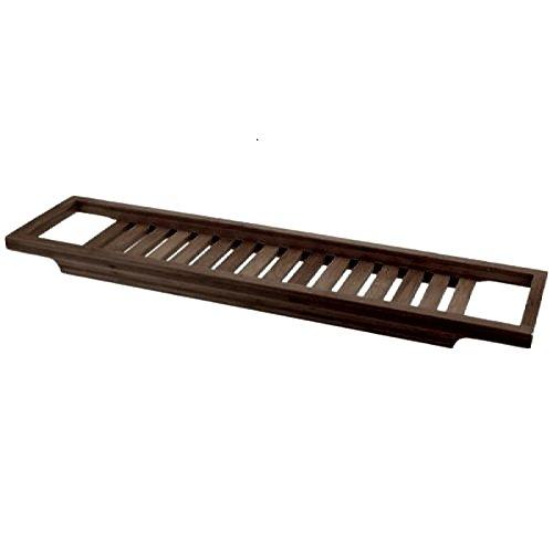 IKEA Ablage ÖREHAMN für die Badewanne Badewannentablett Massivholz dunkelbraun