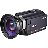 Video Camcorder, Andoer 4K Camcorder 48MP Digital Video Camera 2880 x 2160 HD 3inch Touchscreen Handy Camera with IR Night Sight Support 16X Zoom 128GB Max Storage