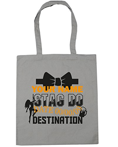 Do litres Grey Bag Gym Light Beach 10 42cm Stag Event Personalised Tote Shopping HippoWarehouse x38cm Eaqp6Ua
