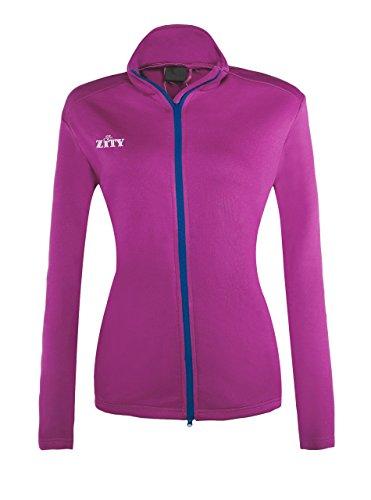omens Lightweight Jacket Fleece Sweatershirt Jacket Rose Red XX-Large by ZITY