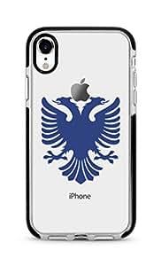 Stylizedd Apple iPhone XR Cover Impact Pro Black Military Grade Dual Layer Case - Albanian Eagle