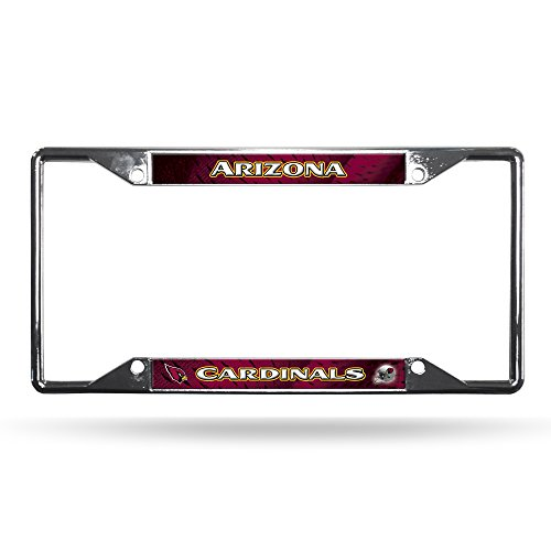 Rico Industries NFL Arizona Cardinals Easy View Chrome License Plate Frame