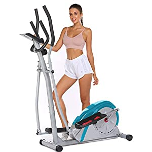 Hicient Elliptical Training Machines for Home Use, Portable Elliptical for Home Gym Aerobic Exercise Elliptical Exercise Machine with LCD Monitor and Adjustable Magnetic Resistance