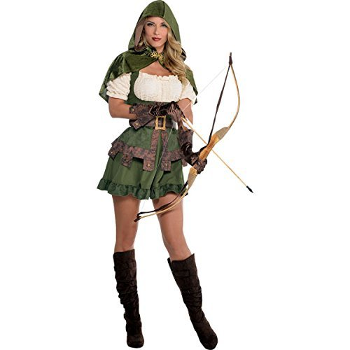 AMSCAN Lady Robin Hood Halloween Costume, Large, with Included -