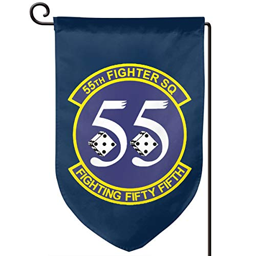 55th Fighter - Garden Flag 12.5-18in Size Banner for House Decoration- 55th Fighter Squadron
