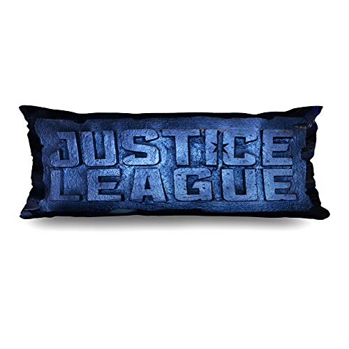 Ahawoso Body Pillows Cover 20x54 Inches Dark Animation Bangkok Thailand November 11 Standee Ben Action Aquaman Armor Affleck Decorative Cushion Case Home Decor Pillowcase