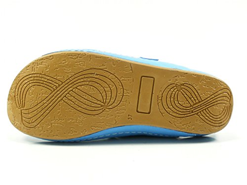 Andrea Conti Zoccoli Donna 0021541 Muli In Pelle Blu