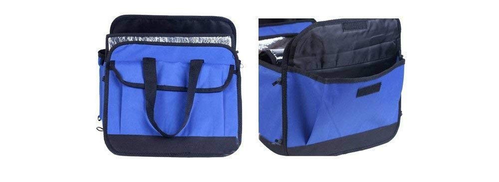Hwint Organizer Oxford Cloth Trunk Cooler Storage Bag, Expandable Side Pockets, Foldable Perfect for Your Car, SUV, Truck,RV,Minivan (Blue) by Hwint