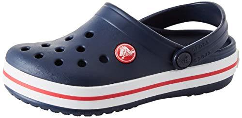 Crocs Unisex Kids' Crocband Clog, Navy/Red, 12 M US Little