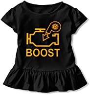 JVNSS Boost Check Engine Light - Turbo T-Shirt Baby Girl Cotton Graphic T-Shirt for 2-6T Baby