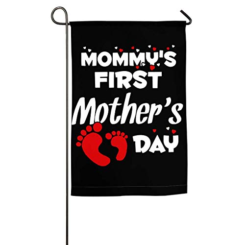 WINDST Personalized Mommy First Mother Day Logo Garden Flag 12x18 Inch for Patio,Home,Yard,Outdoor Decorative