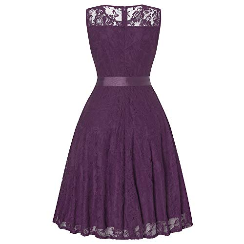 vavomy Women Dress, Sexy Women Floral Long Backless Formal Party Wedding Dress (M, Purple) by vavomy (Image #1)