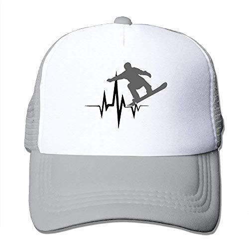 1 Snowboarder Cap Mesh béisbol Tone longkouishilong Adjustable Gorras Hat Heartbeat Two Trucker X880qH