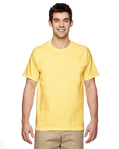 Silk Cotton Crewneck T-shirt (Gildan mens Ultra Cotton 6 oz. T-Shirt(G200)-CORNSILK-3XL)