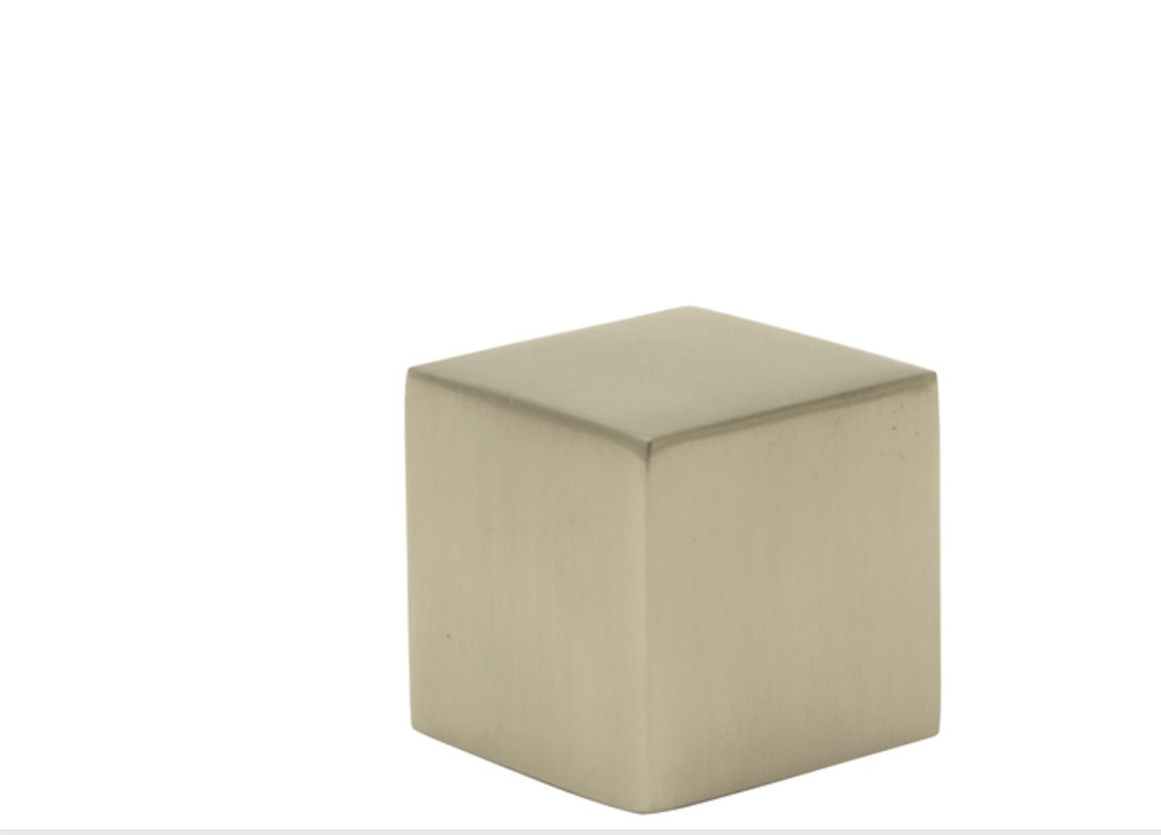 Contemporary Chrome Cube Lamp Finial - 1 Inch Square