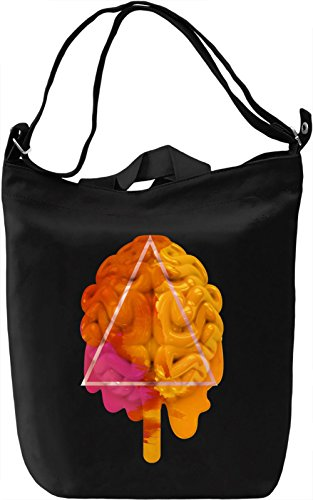 Ice-cream Brain Borsa Giornaliera Canvas Canvas Day Bag| 100% Premium Cotton Canvas| DTG Printing|