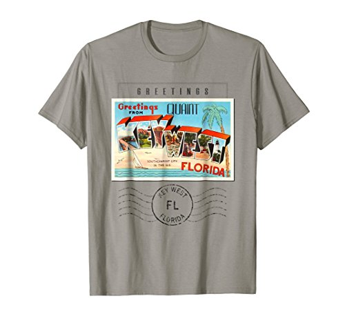 T-shirts Gifts Postcard - Key West Postcard T Shirt Florida FL Travel Souvenir Gift
