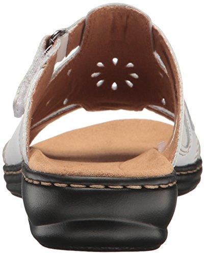 Clarks Women's Leisa Higley Slide Sandal White Leather feV3wnnNxu