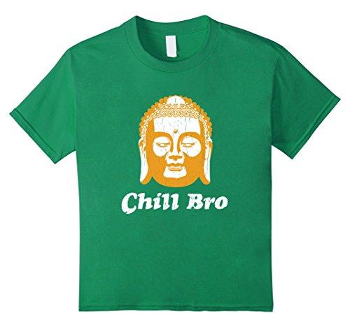 [unisex-child Chill Bro Funny Buddha T Shirt Gift for Buddhist Meditator 12 Kelly Green] (Buddha Fitted T-shirt)