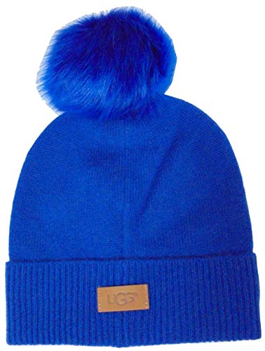 UGG Women's Luxe Knit with Sheepskin Pom Hat Electric for sale  Delivered anywhere in USA