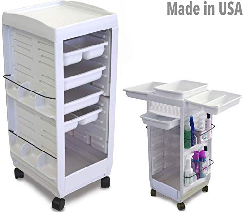 C113E FF Aesthetician Roll-About Roller Cart Non Lockable Trolley White Made in USAby Dina Meri