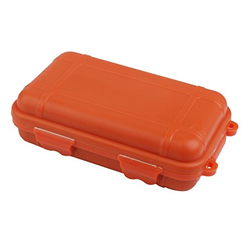 Outdoor Plastic Storage Containers (Outdoor Plastic Waterproof Airtight Survival Case Container Storage Carry Box Small New - Orange)