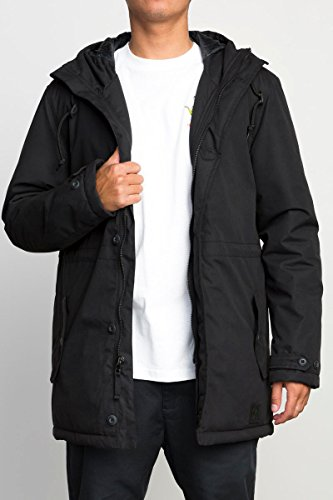 RVCA Men's No Boundaries Parka Jacket, Black, X-Large by RVCA (Image #1)