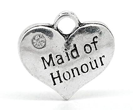 5 x Tibetan Silver /& Rhinestone FLOWER GIRL HEART 3D 16mm Charms Pendants Beads