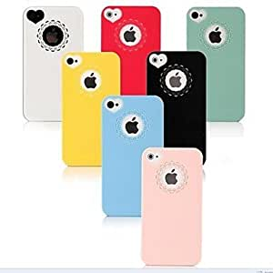 ZCL Hollow Out Flower Heart PC Hard Case for iPhone 4/4S (Assorted Colors) , White
