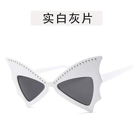 Yangjing-hl Gafas de Sol Masculinas Bat Bat Big Box Gafas de ...
