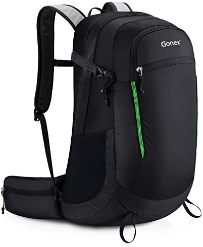 Gonex 35L Small Hiking Backpack for Youth Adult, Water Repellent Travel Camping Outdoor Daypack with Rain Cover