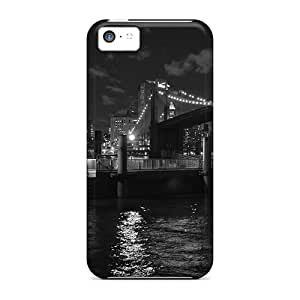 Ultra Slim Fit Hard JessieHValdez Case Cover Specially Made For Iphone 5c- Boar Docks By The Brooklyn Bridge