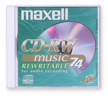1-pack CD-RW Media 74min- for Audio Only