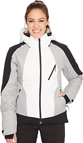 Amp Jacket (Spyder Women's Amp Ski Jacket, Marshmallow/Black/Limestone, Small)
