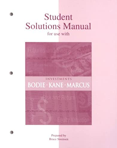 amazon com student solutions manual to accompany investments rh amazon com Chegg Solution Manual Physics Solutions Manual