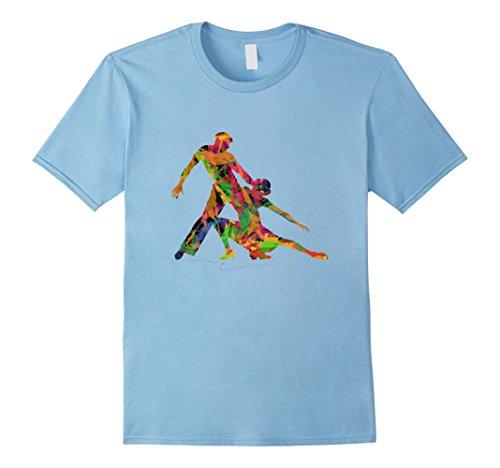 Mens Ballroom Dance Salsa Dress Ballet Ballerina Costume Shirt 3XL Baby Blue - Salsa Costume Male